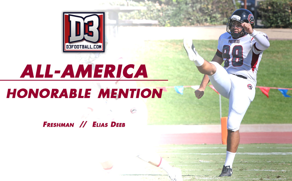Deeb recognized as All-American punter