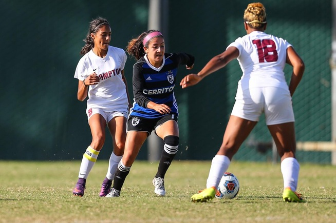Mayela Medina had a pair of goals and an assist against Compton