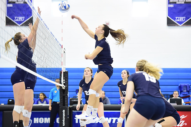 Behrend Volleyball Downs Hilbert