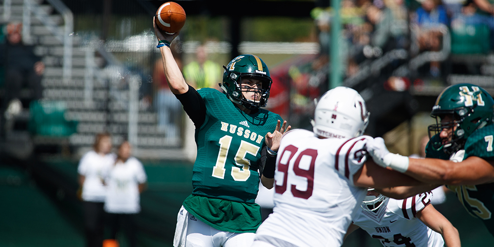 Husson Dismantles Castleton 49-0 on Homecoming