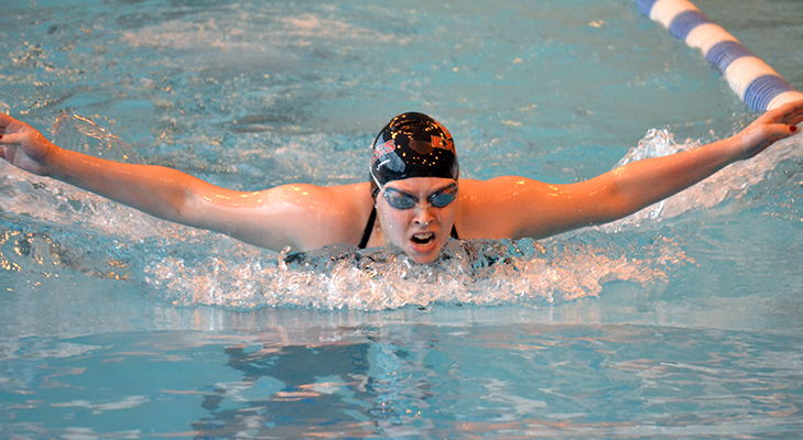 Men's and Women's Swimming Compete Versus Cobleskill