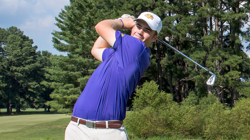 Golden Eagle men's golf team complete rounds one and two at Derek Dolenc Invitational
