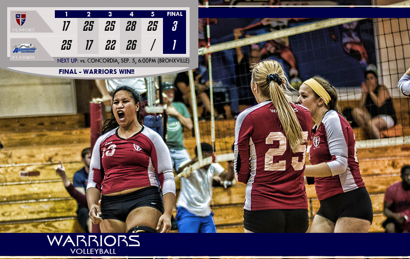 Volleyball Comes Back to Take Game Two Against Assumption