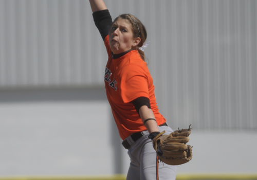 Findlay Softball Sweeps Lake Erie, Motuza Sets Record On Senior Day