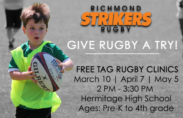 Strikers Announce Free Tag Rugby Clinics for Spring 2019