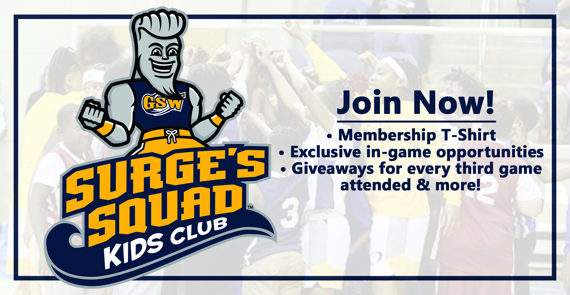 Introducing the All-New Surge's Squad Kids Club