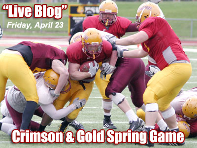 A live play-by-play blog will take place during Friday's spring game (Photo courtesy Zeke Jennings/Big Rapids Pioneer)
