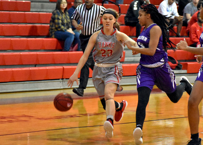 Alex Lowery scored 15 points in Saturday's win over Piedmont to help the Lady Hawks extend their winning streak to eight games.