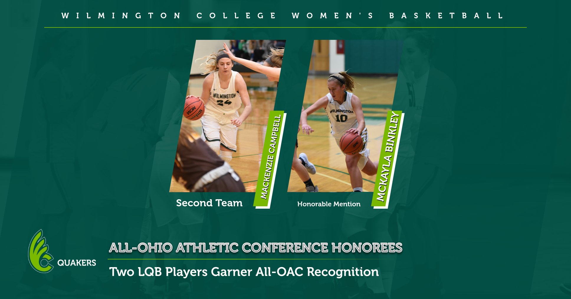 Women's Basketball Places Two on All-OAC Teams