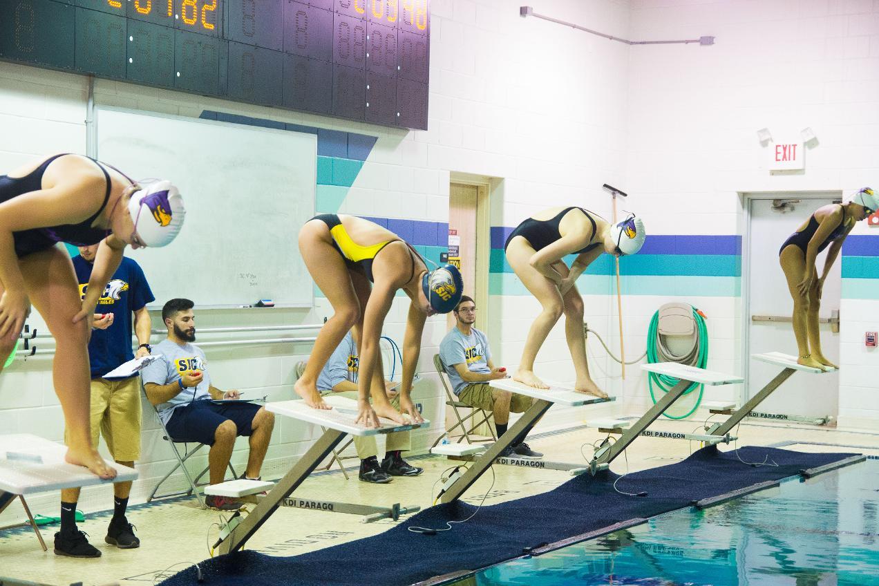 2015 16 Women 39 S Swimming Vs Hunter 11 13 St Joseph 39 S College Long Island Golden Eagles