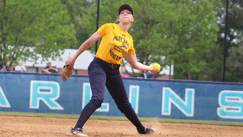 Hull Hits 1,000 Career Strikeouts as Softball Splits with Ferrum