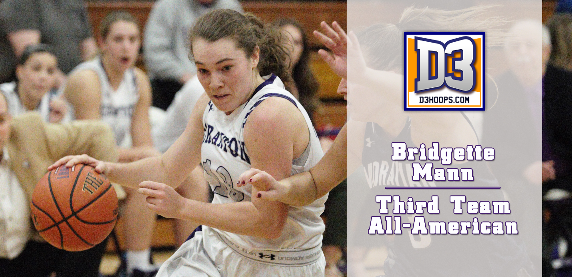 Bridgette Mann was named a D3hoops.com Third Team All-American over the weekend.