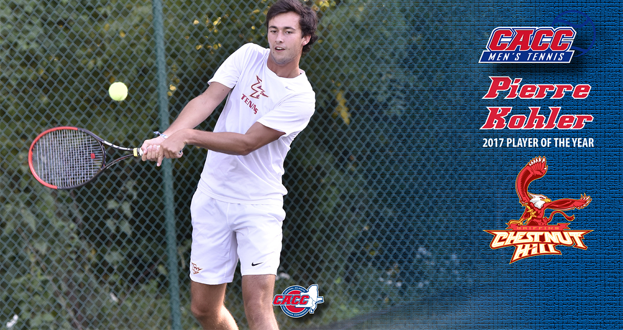 CHC's Pierre Kohler Named 2017 CACC Men's Tennis Player of the Year as Griffins Sweep Major Awards