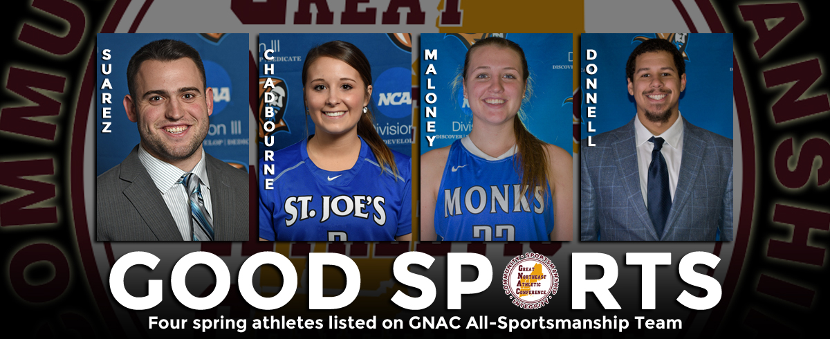Four Monks Earn GNAC All-Sportsmanship Accolades