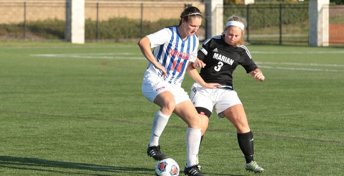 Schlosser's hat trick leads Falcons to NACC-opening win