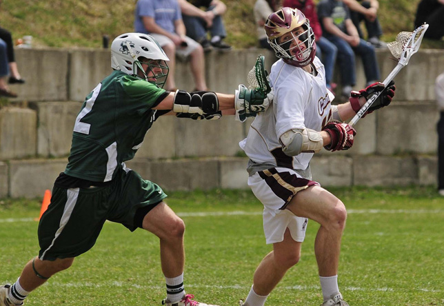 Men's Lacrosse: Cadets Sacrifice Six Goals in Fourth Quarter in 8-5 Loss to NEC