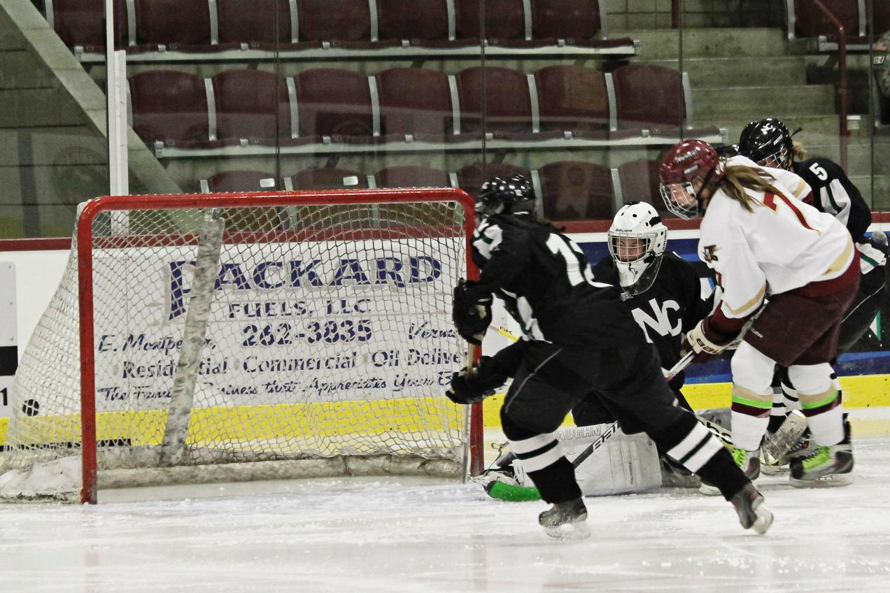 Women's Hockey: No. 1 Norwich rolls past Nichols 9-0, Fortier reaches 150 points
