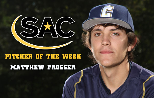 Coker's Prosser Earns Second SAC Pitcher of the Week Award