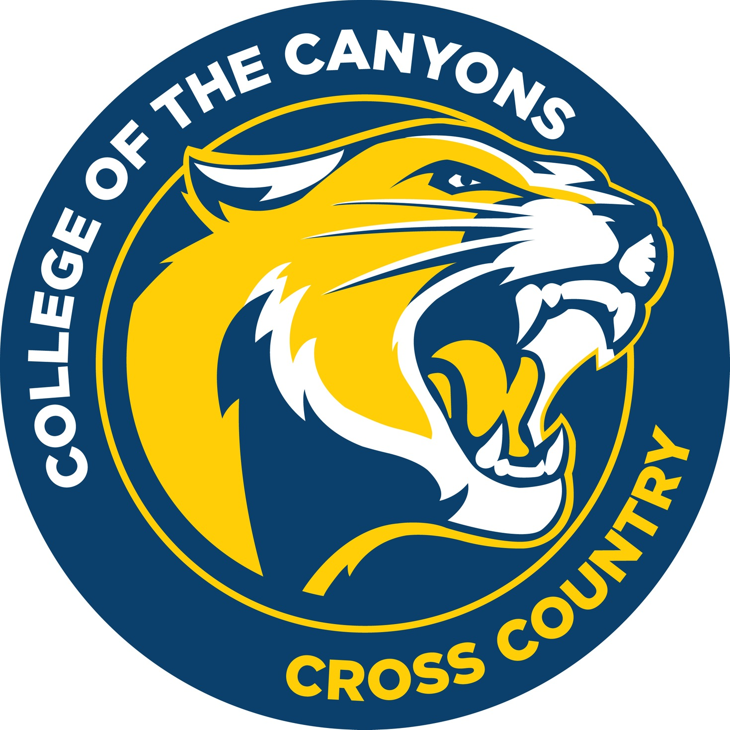 College of the Canyons cross country logo.