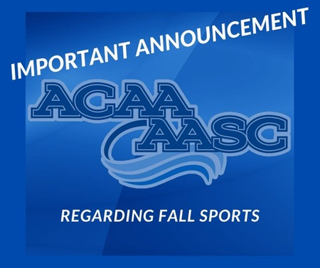 ACAA Announces Cancellation of Fall 2021 Seasons