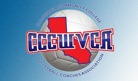 California Community College Women's Volleyball Association logo