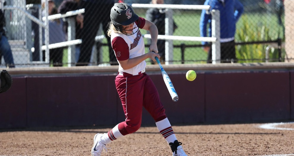 Softball Comes Up Short in Offensive Shootout; Second Game Canceled