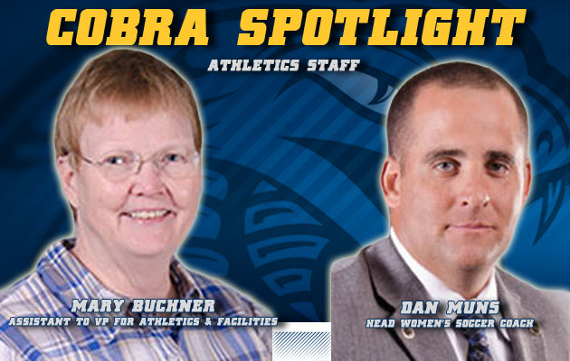 Cobra Spotlight- Mary Buchner & Dan Muns, Athletic Staff
