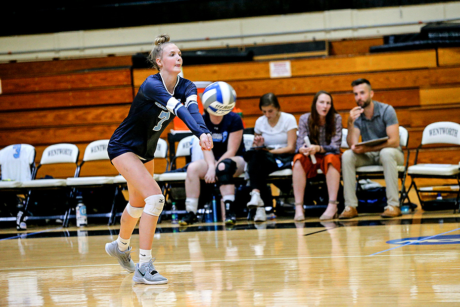 WVB: Lasers sweep Bucs in non-conference match; Roberts tallies eight kills
