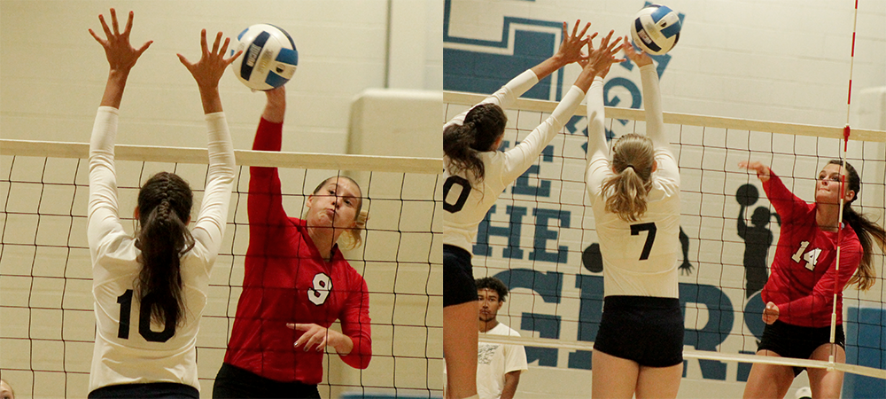 L to R: Jordan Alt and Erika Angstmann. Photos by Nicholas Huenefeld/Owens Sports Information