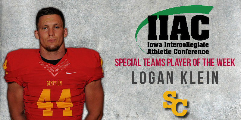 Klein named IIAC Player of the Week