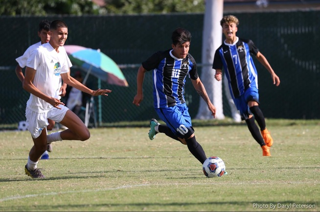 Bryan Ortega scored the first goal of the game for the Falcons against Oxnard