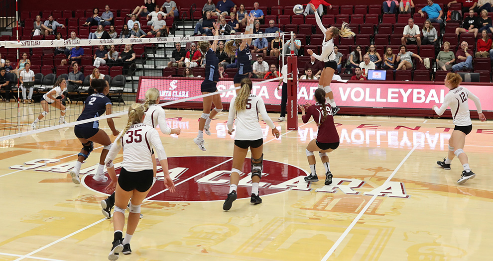 Santa Clara plays three matches in five days this week, beginning Tuesday night in Stockton.