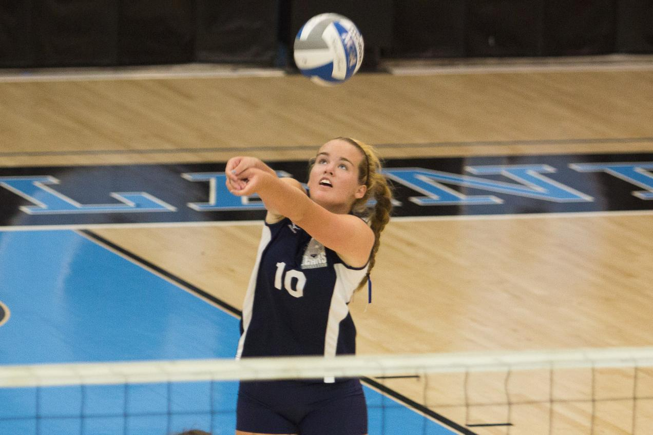 Women's Volleyball Downed by Staten Island in Straight Sets