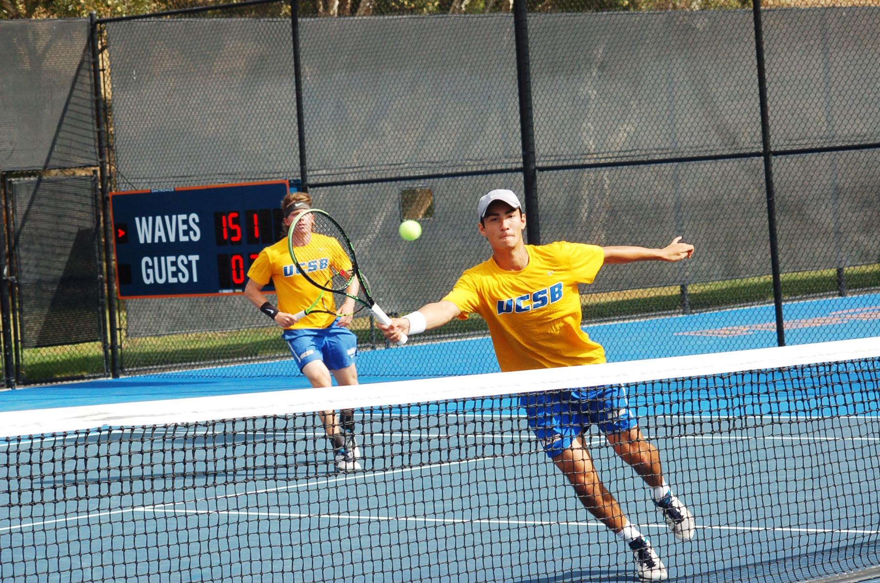 Simon Freund (right) and Morgan Mays (left) look to propel their team to victory this weekend against No. 95 USF and No. 6 Cal