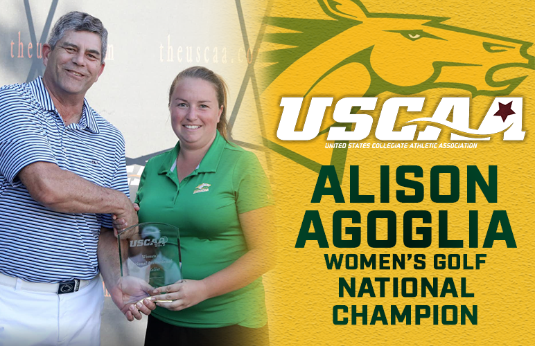 Alison Agoglia Claims First USCAA National Title for Women's Golf