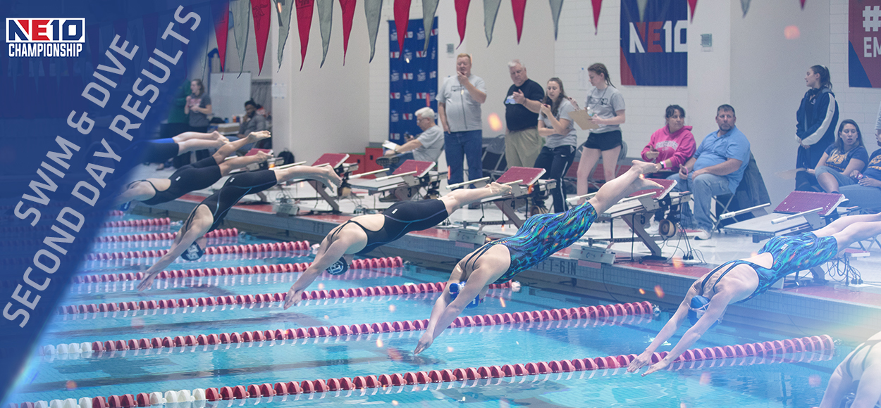 Falcons Still On Top After Second Day of NE10 Swimming & Diving Championships