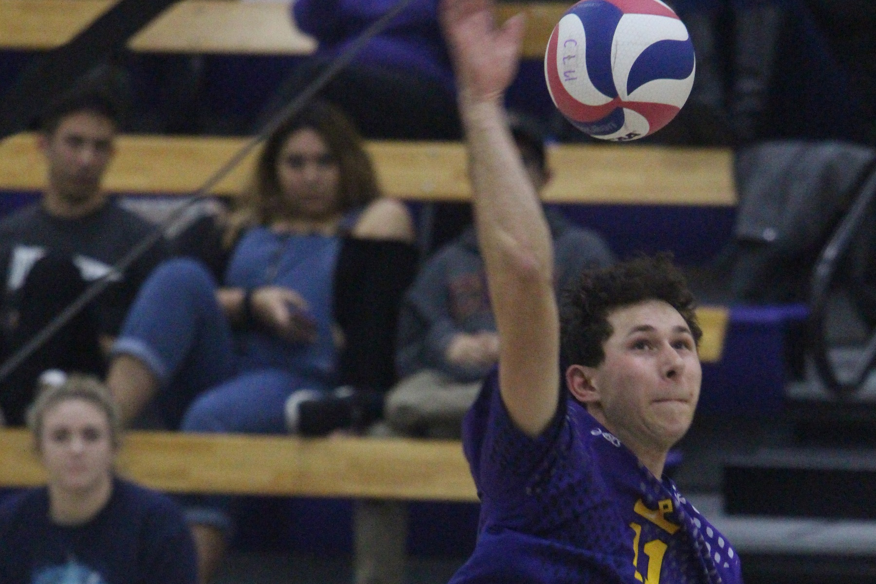 Justin Dietrich tallied a season-high for kills (11) and hitting percentage (.688) against No. 3 Carthage.