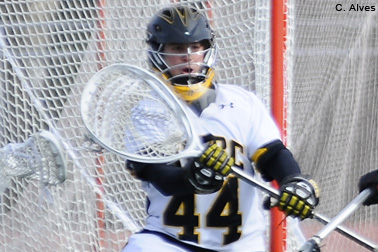 Goalkeeper Brian McCullough is 6-3 in the nets for UMBC this season.