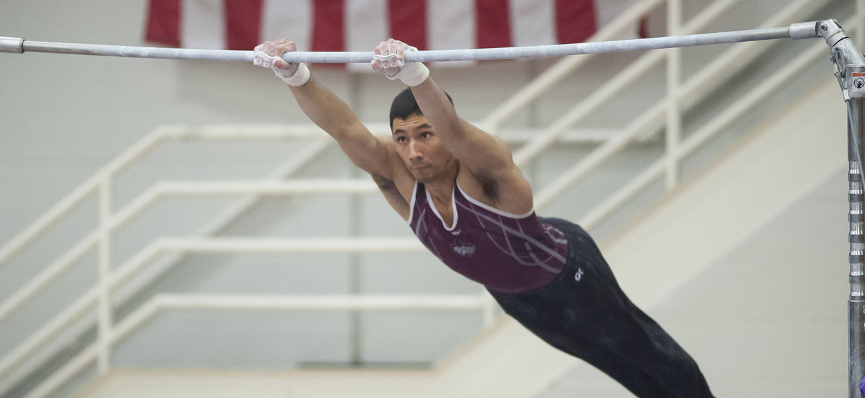 Men's Gymnastics Takes Third In Navy Open