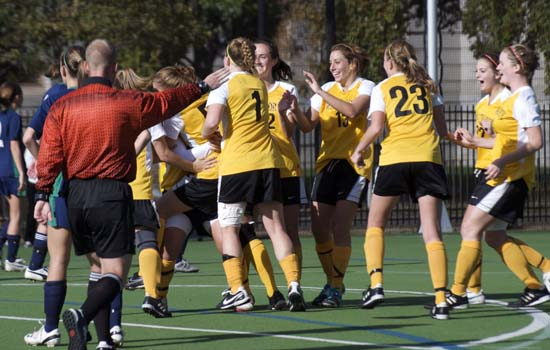 Women's Soccer Holds on For 4-3 Win