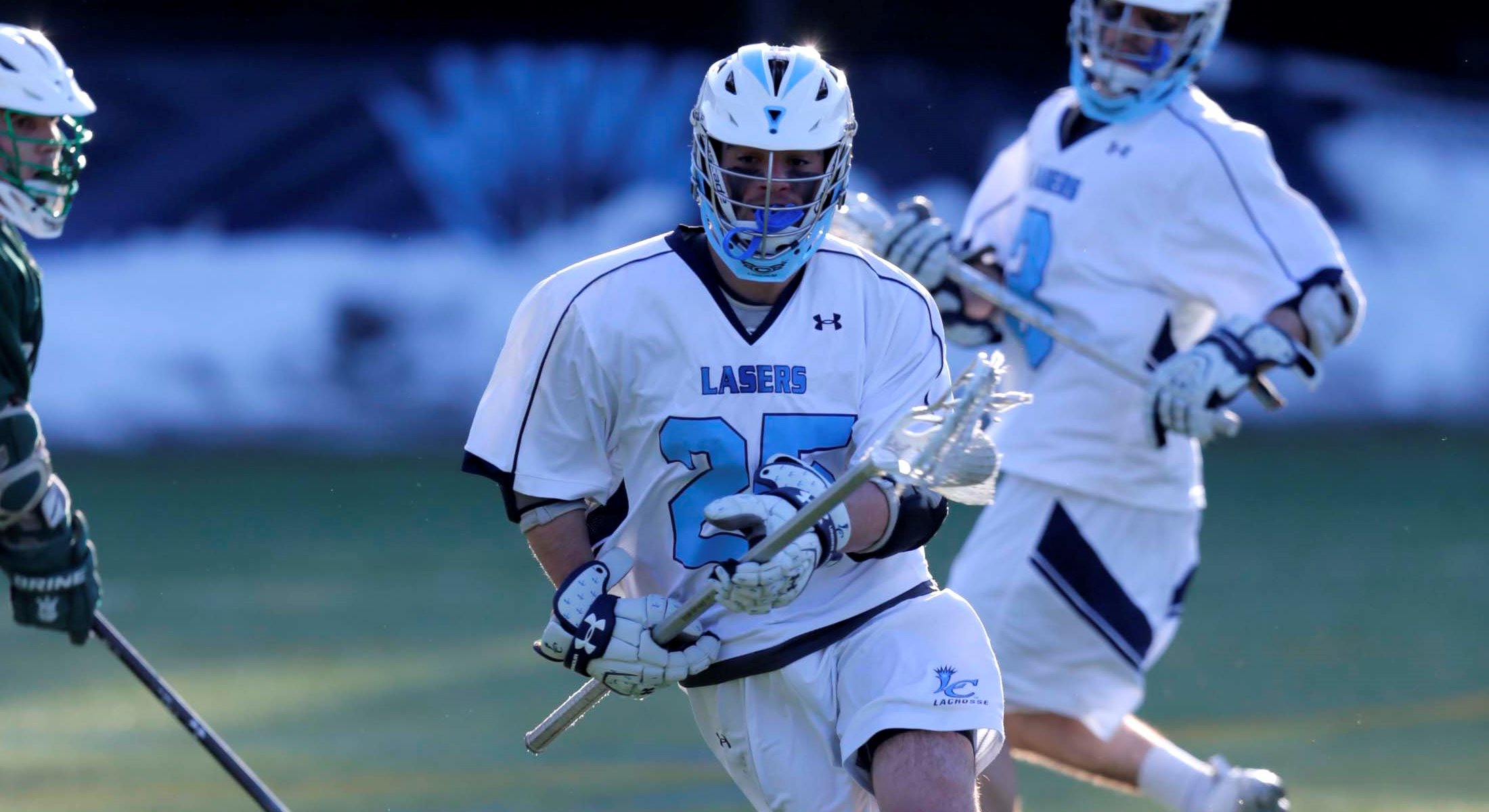 Men's Lacrosse Stays Perfect in GNAC Play with 20-7 victory at Daniel Webster