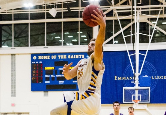 SAINTS FALL IN GNAC TOURNEY THRILLER TO LASELL, 76-74