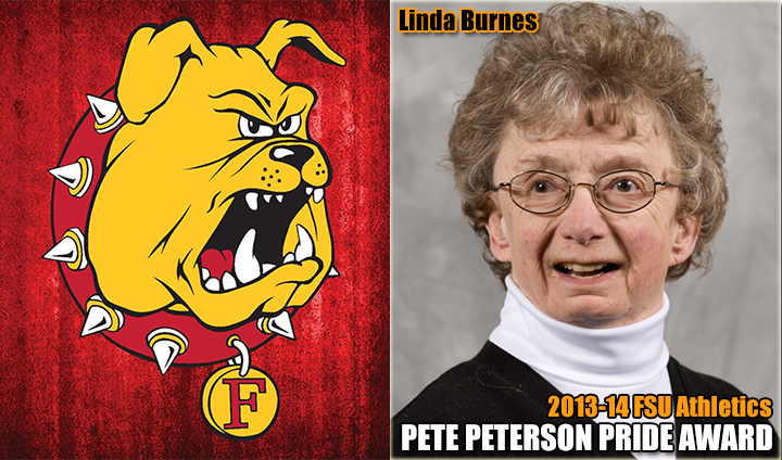 "The Late Linda Burnes Honored As 2013-14 Ferris State Athletics ""Pete Peterson Pride Award"" Recipient"