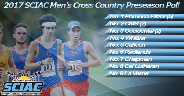 Pomona-Pitzer Selected First in 2017 SCIAC Men's Cross Country Preseason Poll