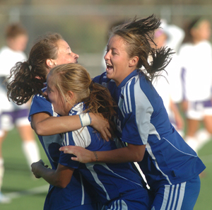 Alicia Robinson scored on a corner kick in a 1-0 overtime victory over Butler in the 2010 Region VI Championship Game in Topeka.