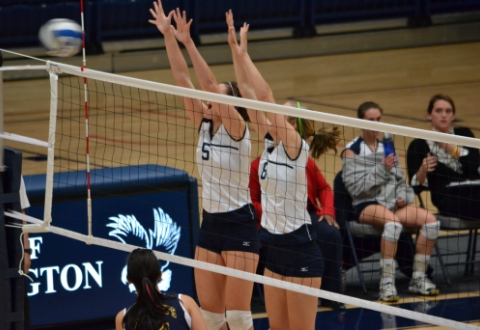 UMW Volleyball Tops St. Mary's in CAC Tourney 1st Round