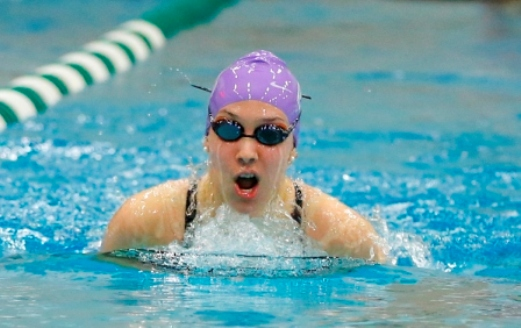 Junior Paige Agnello won three individual events as the women's swimming & diving team won at Marywood on Saturday.