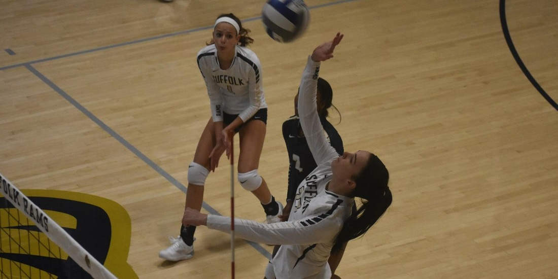 Volleyball Rallies Past Lasell in Five in GNAC Debut