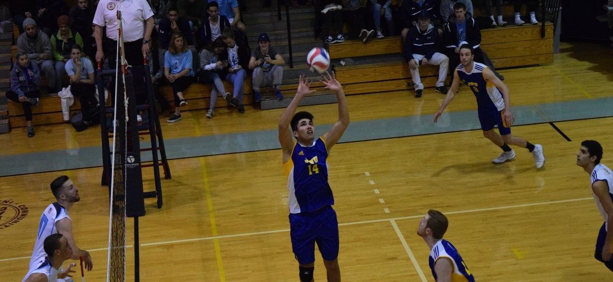 Men's Volleyball Rebounds for 3-1 Win Over Emerson