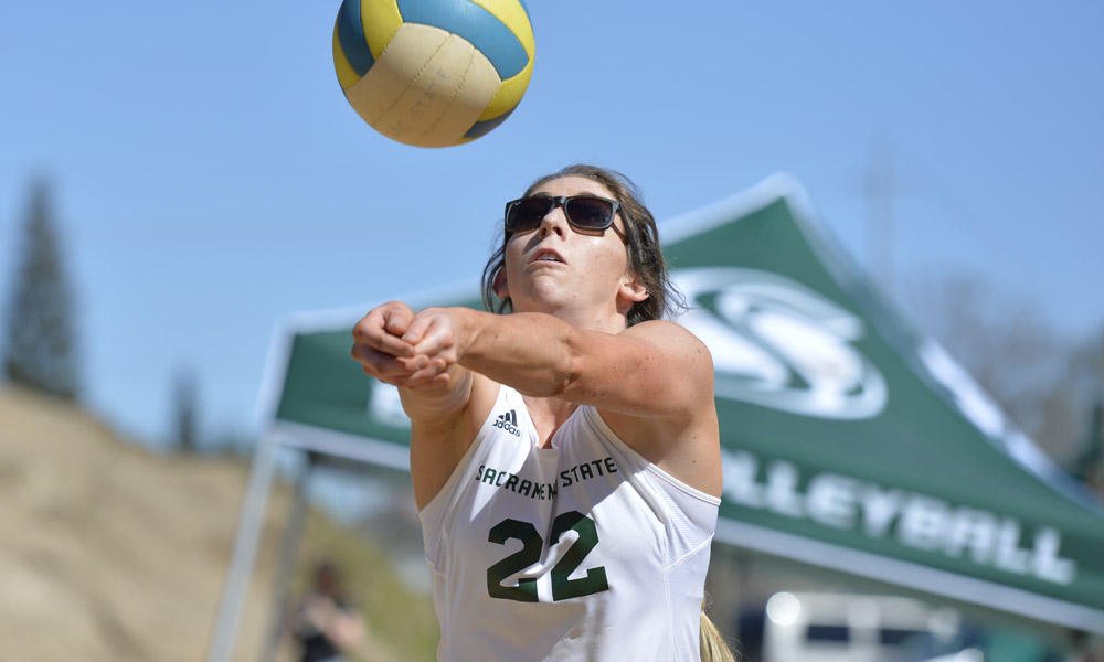 BEACH VOLLEYBALL BEATS CSUN, BUT IS EVENTUALLY ELIMINATED FROM THE BIG WEST TOURNAMENT